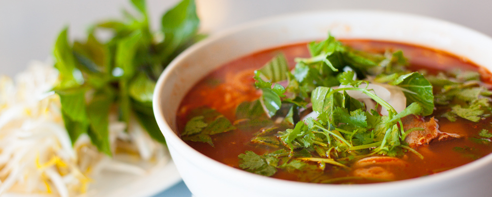 Spicy Beef Rice Noodle Soup
